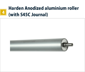 4, Harden Anodized aluminium roller (with S45C Journal)