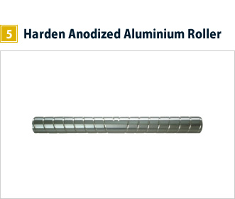 5, Harden Anodized Aluminium Roller