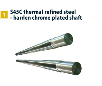 1, S45C thermal refined steel - harden chrome plated shaft