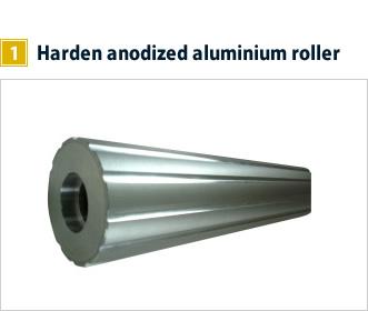 1, Harden anodized aluminium roller