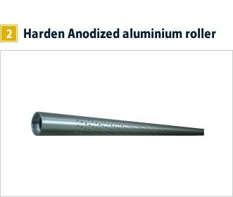 2, Harden Anodized aluminium roller