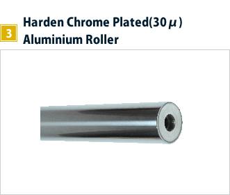 3, Harden Chrome Plated(30μ) Aluminium Roller